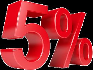 5% de remise pour votre filleul*