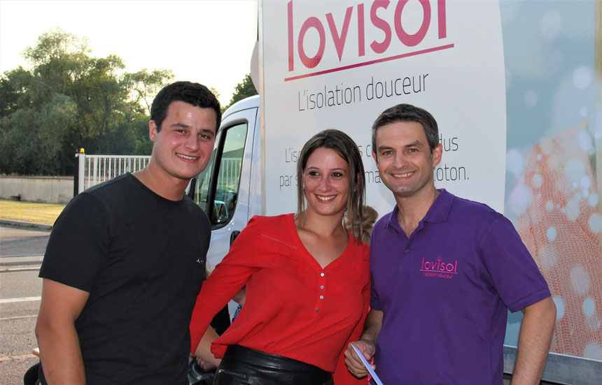 Inauguration agence isolation combles Lovisol Lunéville