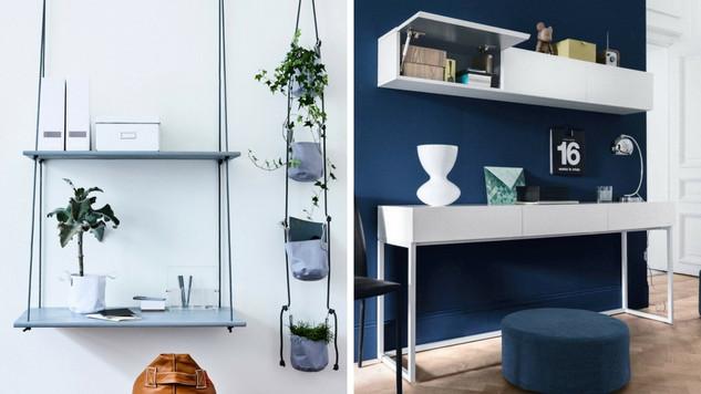 Couloir aménagé en bureau