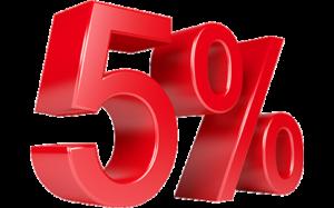 5% de remise sur son isolation coton*