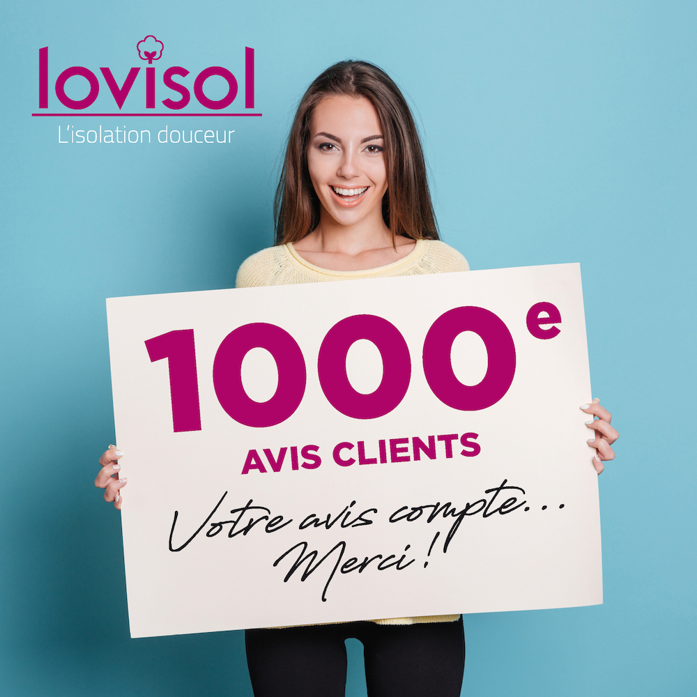 1000 avis clients Lovisol isolation combles